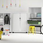 Armario persiana Roller ambientado | Muebles de oficina Spacio