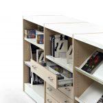 Estanterías de madera Class cajón abierto | Muebles de oficina Spacio