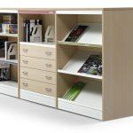 Estanterías de madera Class con cajones | Muebles de oficina Spacio