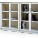 Estanterías de madera Class puertas cerradura | Muebles de oficina Spacio