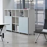 Estanterías modulares Cubic puertas cristal | Muebles de oficina Spacio