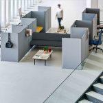 Mesa call center Link puestos y zona descanso   Muebles de oficina Spacio
