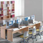 Mesa call center Optima 8 puestos   Muebles de oficina Spacio