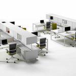 Mesa de oficina Vital Plus Spine con armarios | Muebles de oficina Spacio