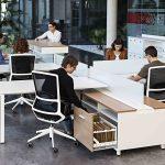 Mesa de oficina Vital Plus Spine puestos operativos | Muebles de oficina Spacio