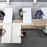Mesa de oficina Vital Plus Spine vista cenital | Muebles de oficina Spacio