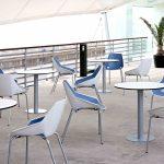 Mesa de reuniones Tabula Plate con silla Viva | Muebles de oficina Spacio
