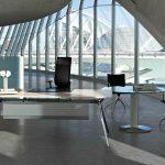 Mesa escritorio Arkitek faldón metálico | Muebles de oficina Spacio
