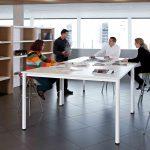 Mesas de escritorio Cool E100 doble blanca | Muebles de oficina Spacio