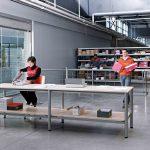 Mesas de escritorio Cool E100 logística | Muebles de oficina Spacio