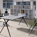 Mesas despacho Plek patas negras | Muebles de oficina Spacio