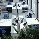 Mesas escritorio Ofimat en cruz | Muebles de oficina Spacio