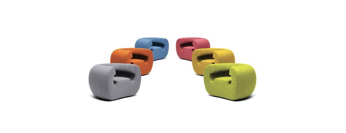 Sofá individual Roxanne diferentes colores | Muebles de oficina Spacio