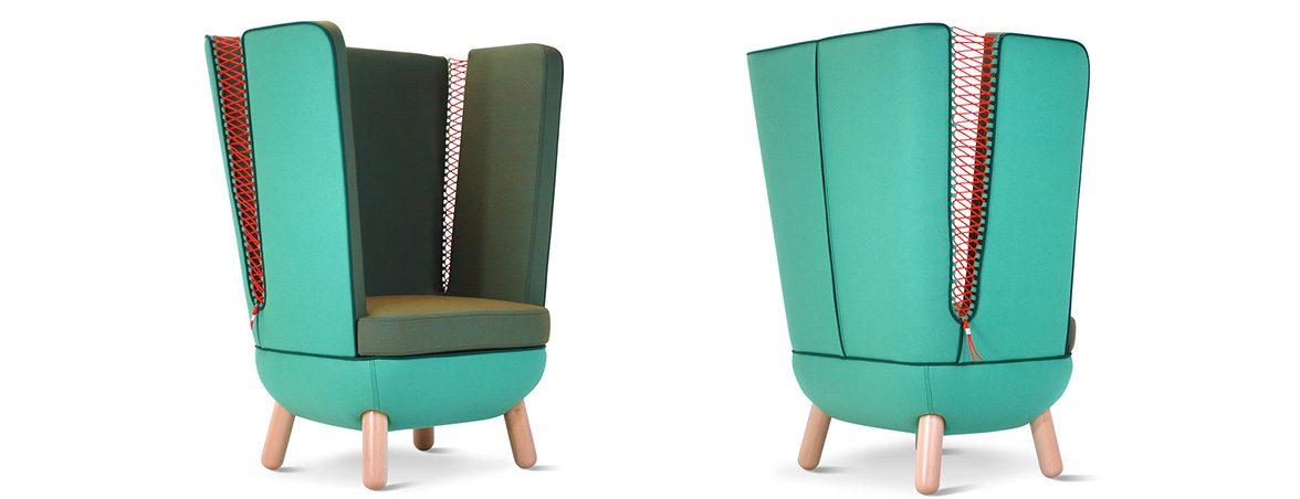 Sofá oficina SLY alto individual | Muebles de oficina Spacio