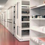 Archivo móvil mecánico vista general | Muebles de oficina Spacio