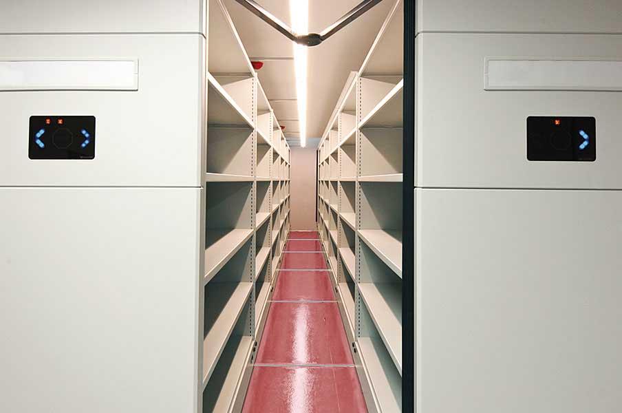 Archivos móviles eléctricos listado | Muebles de oficina Spacio