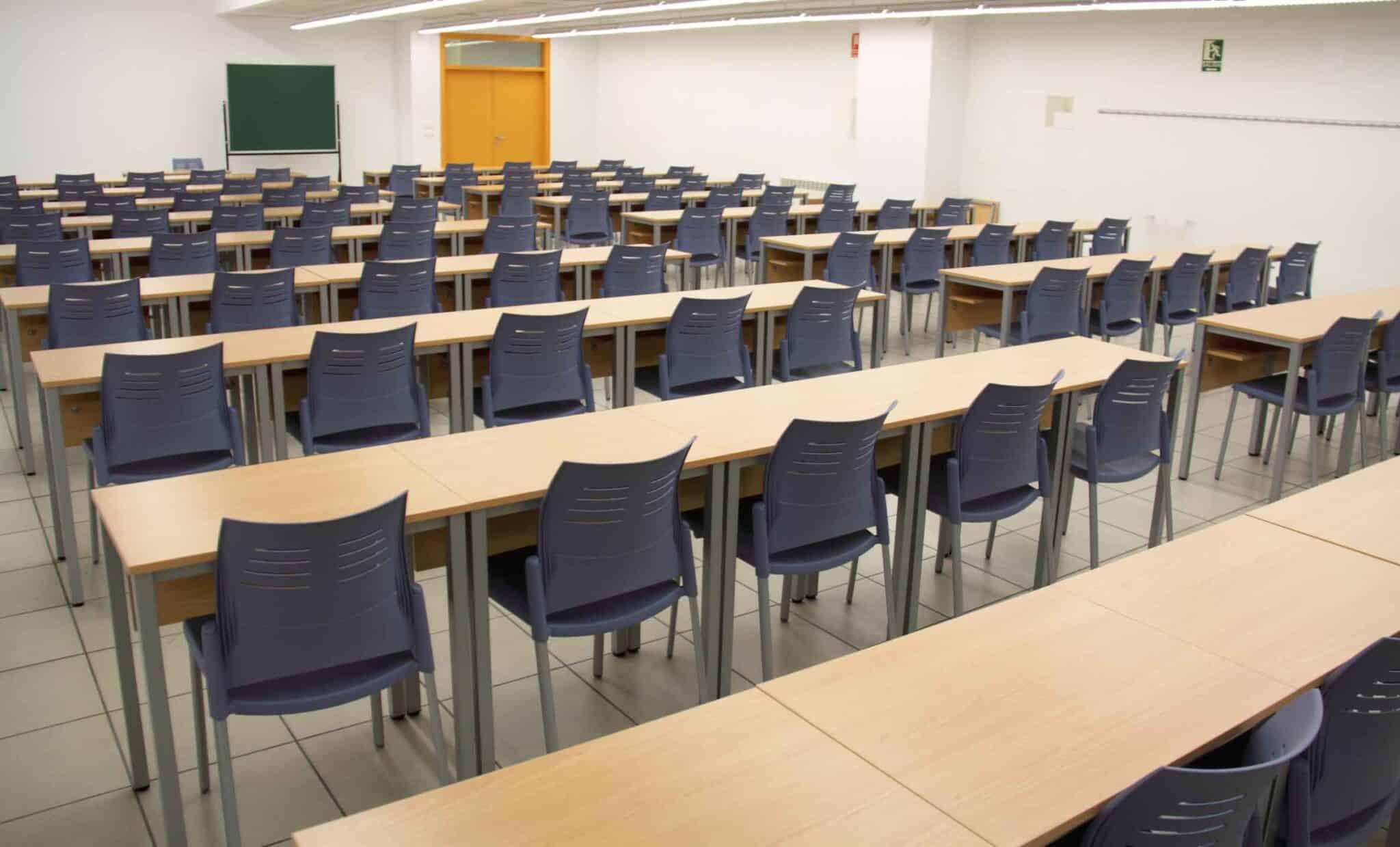 Equipamiento escolar UVA vista trasera | Muebles de oficina Spacio