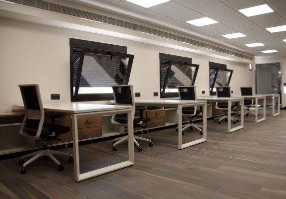 Equipamiento integral Aviporc vista trasera | Muebles de oficina Spacio