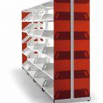 Estanterías metálicas Level panel roja | Muebles de oficina Spacio