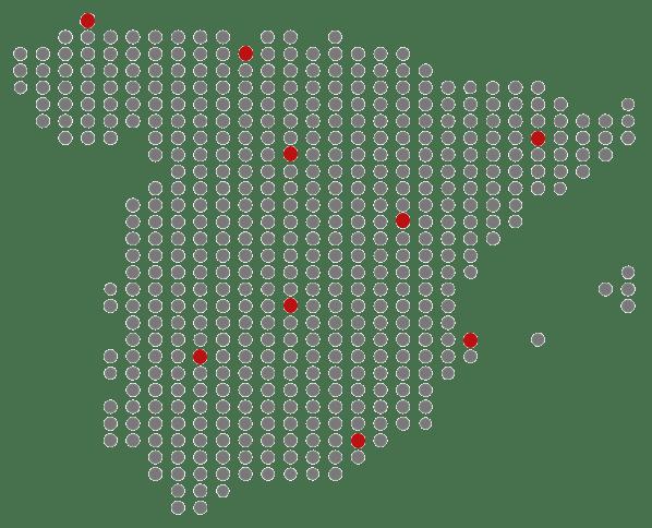 Mapa Cobertura Nacional | Muebles de oficina Spacio