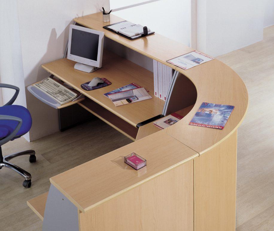 Mostrador De Oficina.Mostrador Ofimat Para Recepcion Muebles De Oficina Spacio