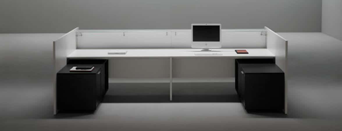 Mostrador de recepción F25-V30 portada | Muebles de oficina Spacio