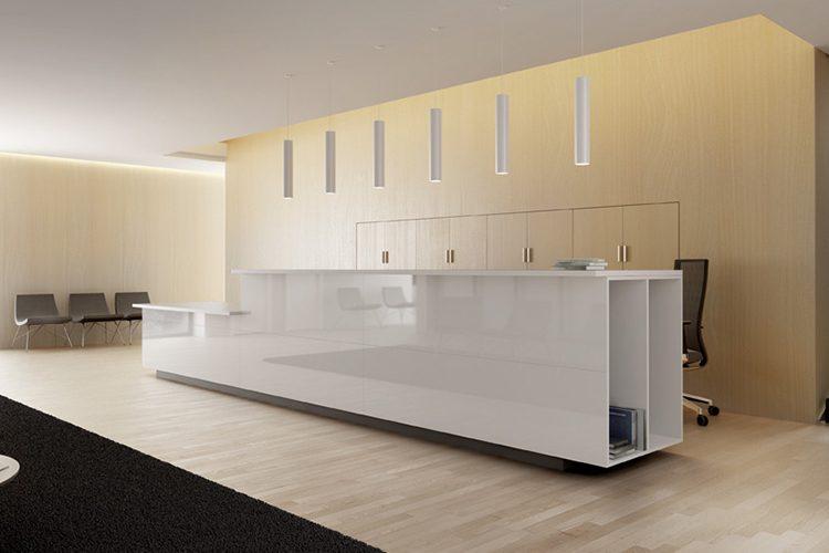 Mostrador para recepción M10 listado | Muebles de oficina Spacio