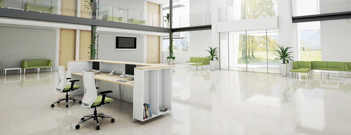 Mostrador para recepción M10 portada | Muebles de oficina Spacio