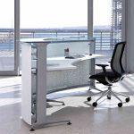 Mostradores recepción Informa parte superior cristal | Muebles de oficina Spacio