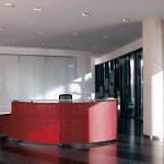 Mostradores recepción Informa rojo | Muebles de oficina Spacio