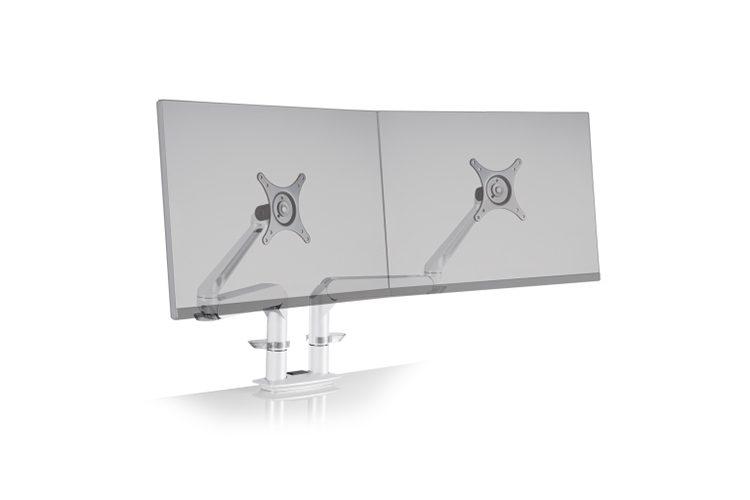 Soporte dos monitores Dual EVO listado | Muebles de oficina Spacio