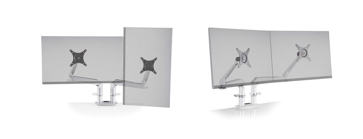 Soporte dos monitores Dual EVO portada | Muebles de oficina Spacio