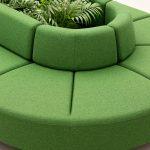 Asientos de oficina Bend verde | Muebles de oficina Spacio