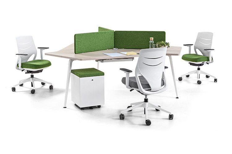 Mesa colaborativa Twist listado | Muebles de oficina Spacio