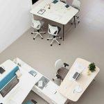 Mesa colaborativa Twist puestos y mesa reunión | Muebles de oficina Spacio