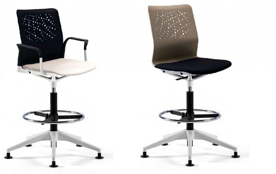 Taburetes con respaldo urban muebles de oficina spacio - Taburete con respaldo ...