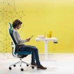 Tnk Flex turquesa con cabezal | Muebles de oficina Spacio
