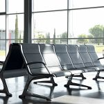 Bancada sala de espera Passport negra | Muebles de oficina Spacio