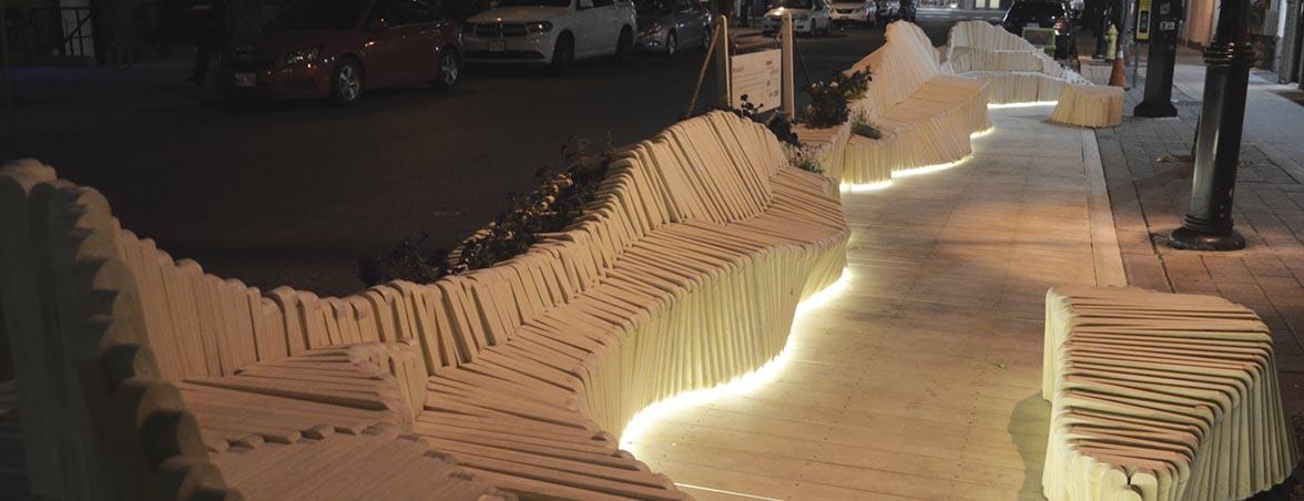 Bancos de madera de noche | Muebles de oficina Spacio