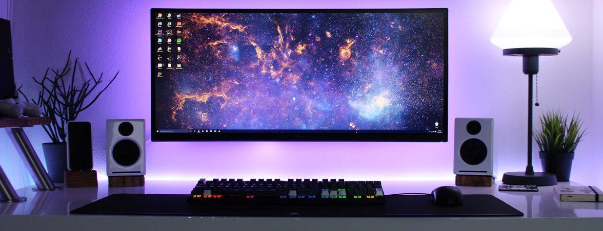 Elegir mesa escritorio luces moradas | Muebles de oficina Spacio
