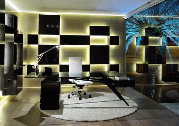 Elegir mesa escritorio setup con luces | Muebles de oficina Spacio