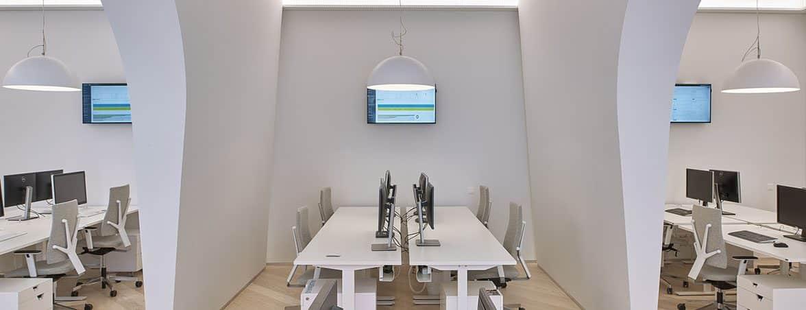 Espacio de trabajo vista lateral | Muebles de oficina Spacio