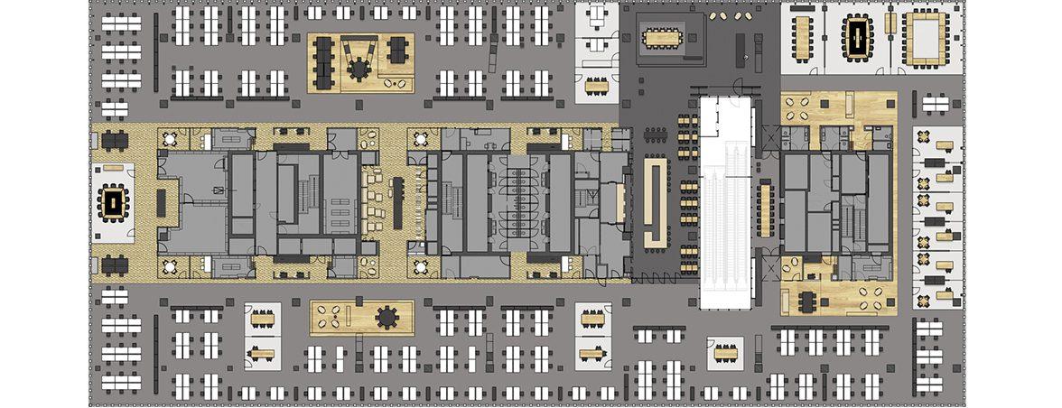 Mamparas de oficina plano | Muebles de oficina Spacio