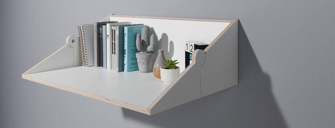 Mesa y estantería TwoFold abierto | Muebles de oficina Spacio