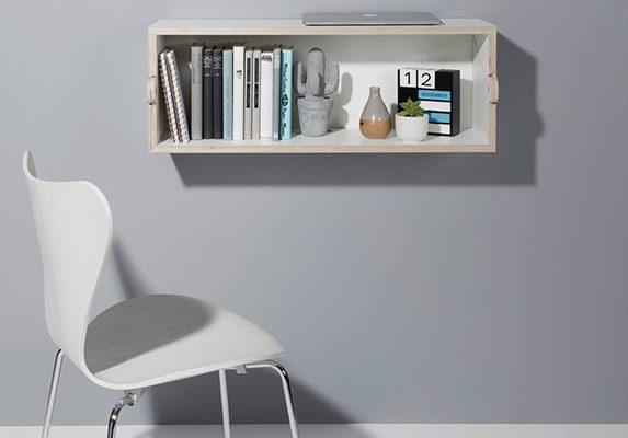 Mesa y estantería TwoFold cerrado | Muebles de oficina Spacio
