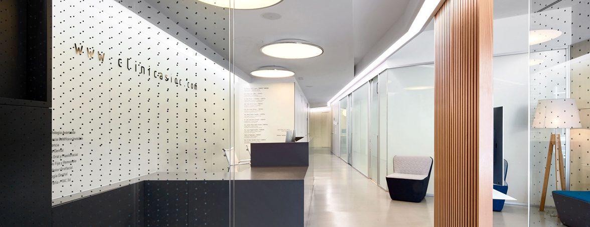 Mobiliario clínica dental entrada | Muebles de oficina Spacio