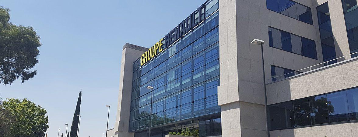 Nuevas oficinas Renault fachada | Muebles de oficina Spacio
