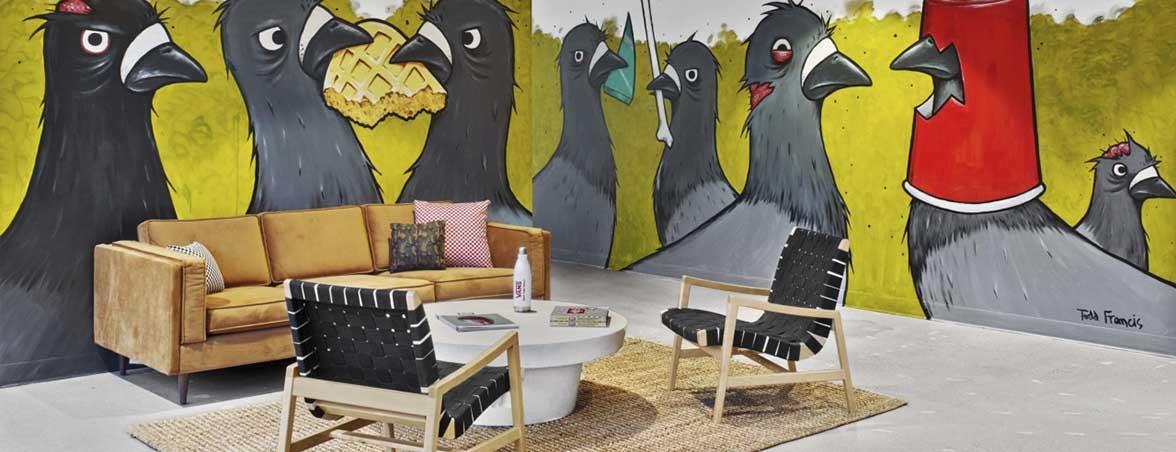 Oficina ejecutiva Vans mural Todd Francis | Muebles de oficina Spacio