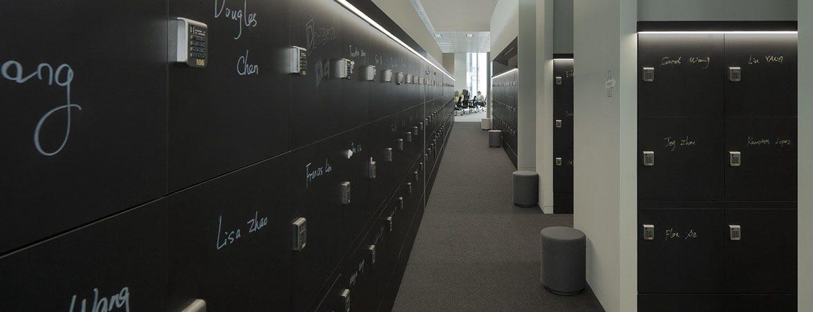 Oficinas Lego casilleros | Muebles de oficina Spacio