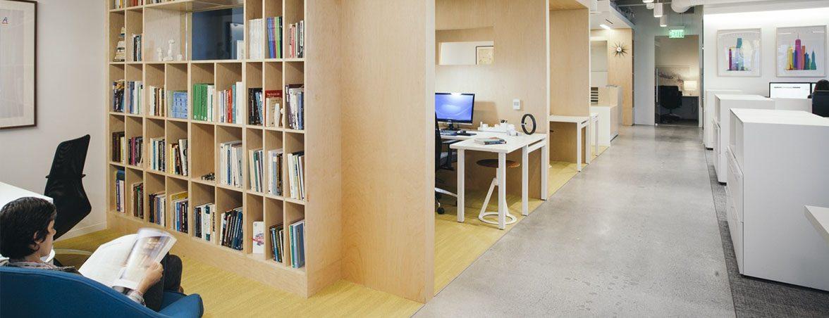 Oficinas colaborativas estanterías | Muebles de oficina Spacio